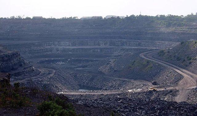 Coal mine in Dhanbad India
